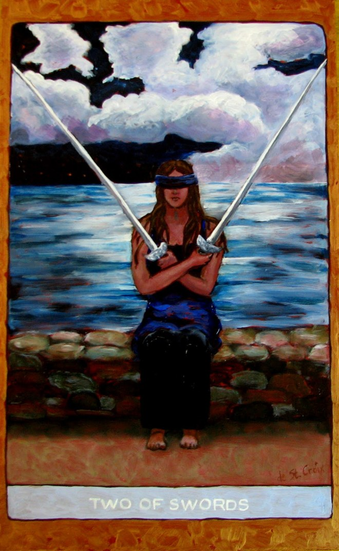 Image result for 2 of swords tarot st croix