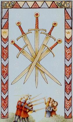 54-5-of-Swords-Old-English-Tarot-deck-by-Maggie-Kneen
