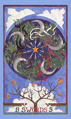 Image result for 5 of swords wheel of change