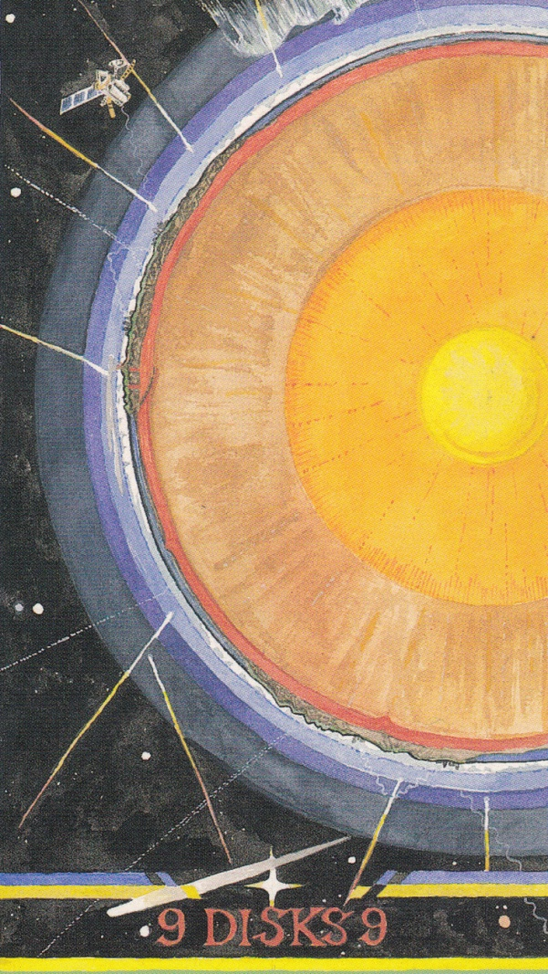 Image result for nine of disks wheel of change tarot