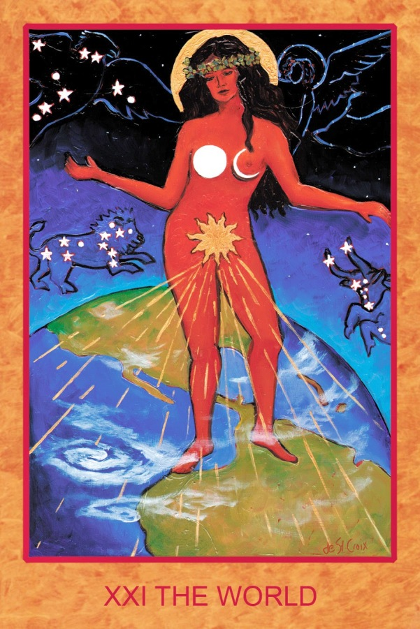 Image result for the world tarot st croix