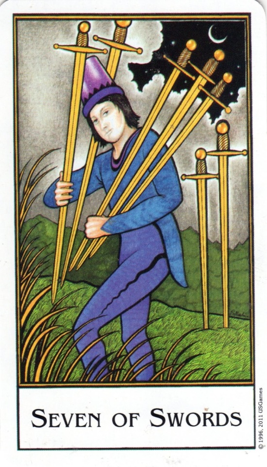 Image result for 7 of swords image