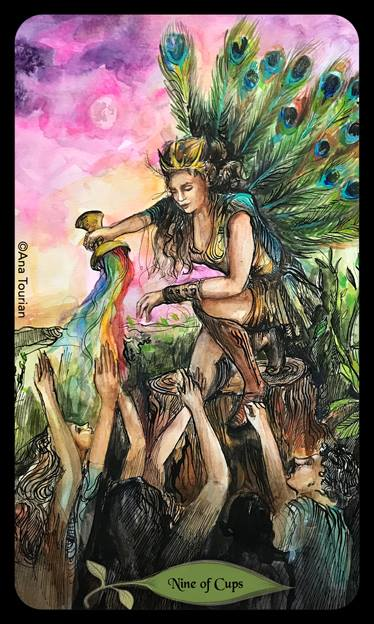Image result for bonefire tarot 9 of cups